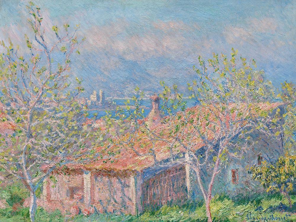 konfigurieren des Kunstdrucks in Wunschgröße Gardeners House at Antibes von Monet, Claude