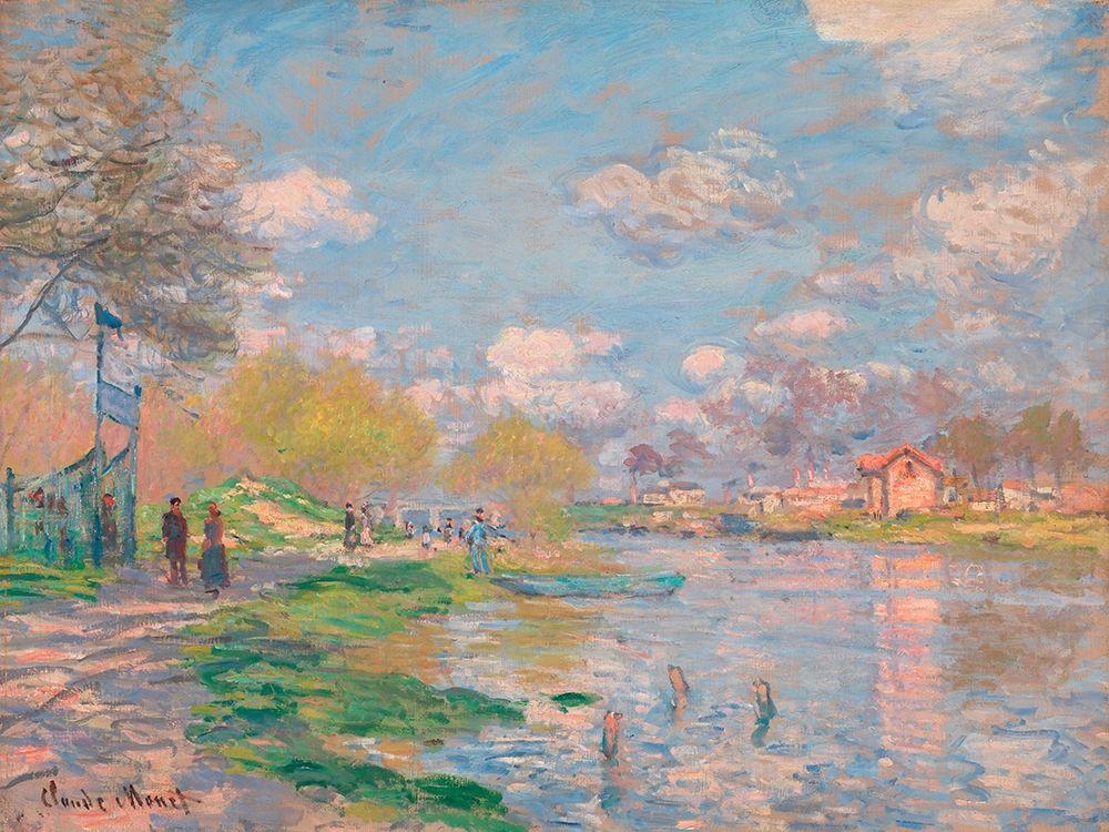 konfigurieren des Kunstdrucks in Wunschgröße Spring by the Seine von Monet, Claude