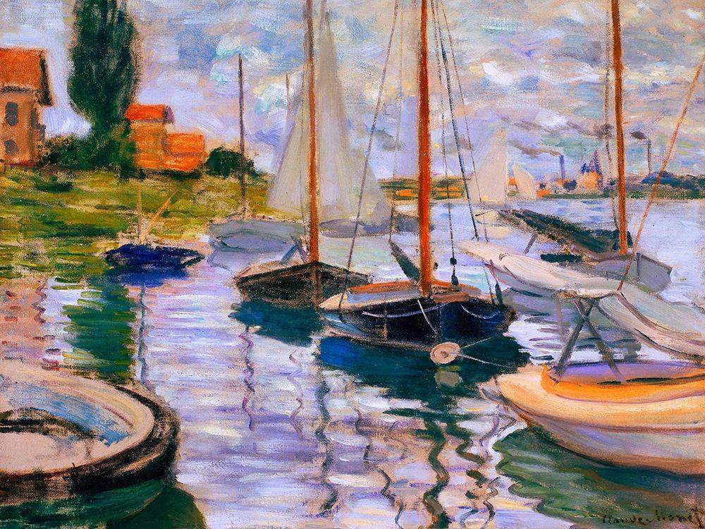 konfigurieren des Kunstdrucks in Wunschgröße Voiliers sur la Seine von Monet, Claude