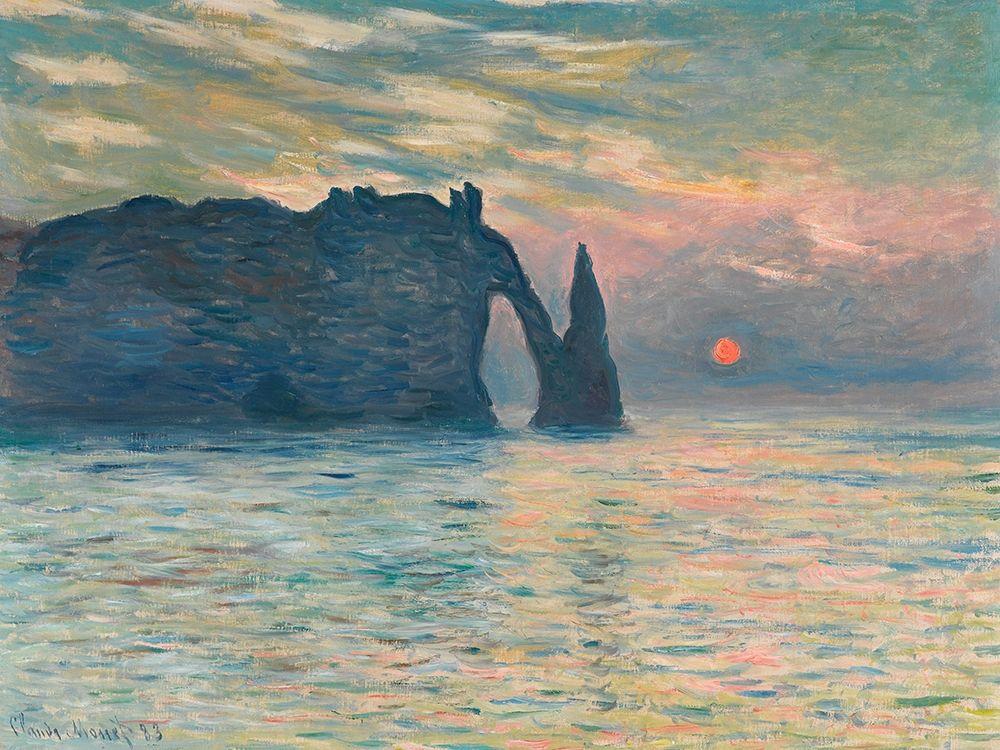 konfigurieren des Kunstdrucks in Wunschgröße Sunrise at Etretat von Monet, Claude