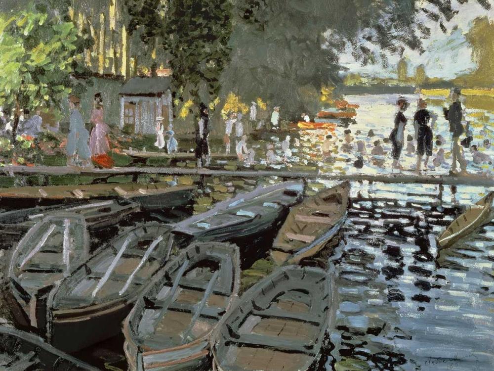 konfigurieren des Kunstdrucks in Wunschgröße Bathers at La Grenouillere (detail) von Monet, Claude