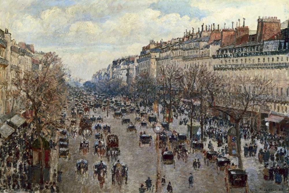 konfigurieren des Kunstdrucks in Wunschgröße Boulevard Monmartre a Paris von Pissarro, Camille