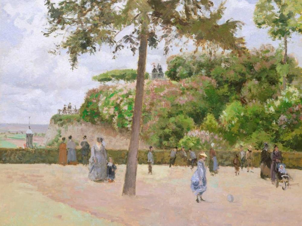 konfigurieren des Kunstdrucks in Wunschgröße The Public Garden at Pontoise von Pissarro, Camille
