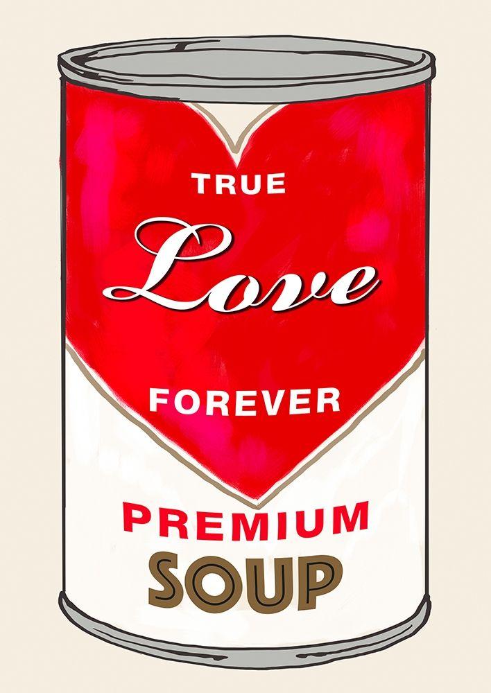 konfigurieren des Kunstdrucks in Wunschgröße Love Soup von Beyon, Carlos