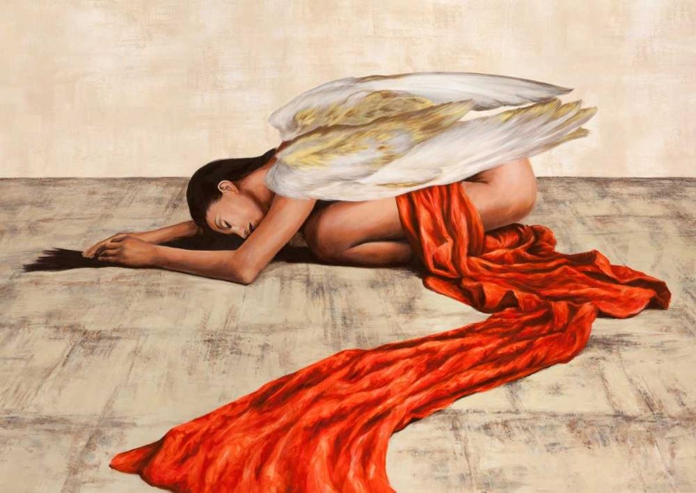 konfigurieren des Kunstdrucks in Wunschgröße Reclined Angel von Duval, Sonya