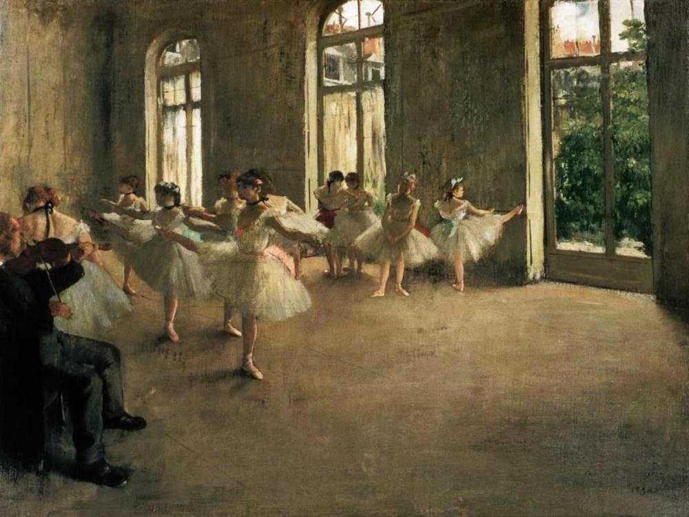 konfigurieren des Kunstdrucks in Wunschgröße The Rehearsal von Degas, Edgar