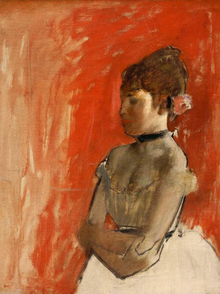 konfigurieren des Kunstdrucks in Wunschgröße Ballet Dancer with arms crossed von Degas, Edgar