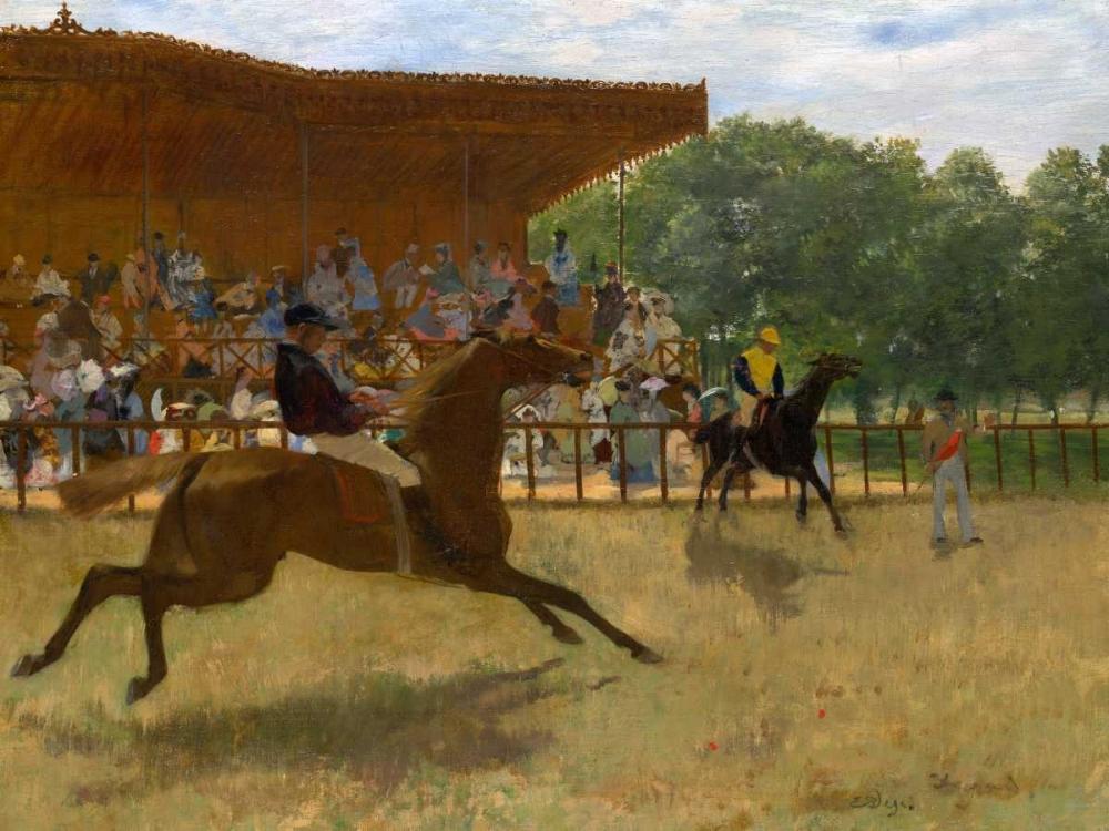 konfigurieren des Kunstdrucks in Wunschgröße The False Start von Degas, Edgar
