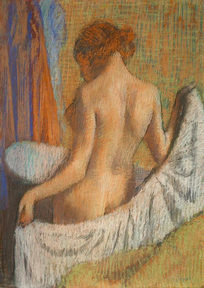 konfigurieren des Kunstdrucks in Wunschgröße After the Bath von Degas, Edgar