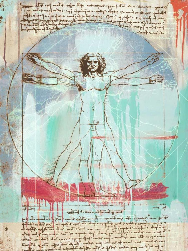 konfigurieren des Kunstdrucks in Wunschgröße Vitruvian Man 2.0 von Chestier, Eric