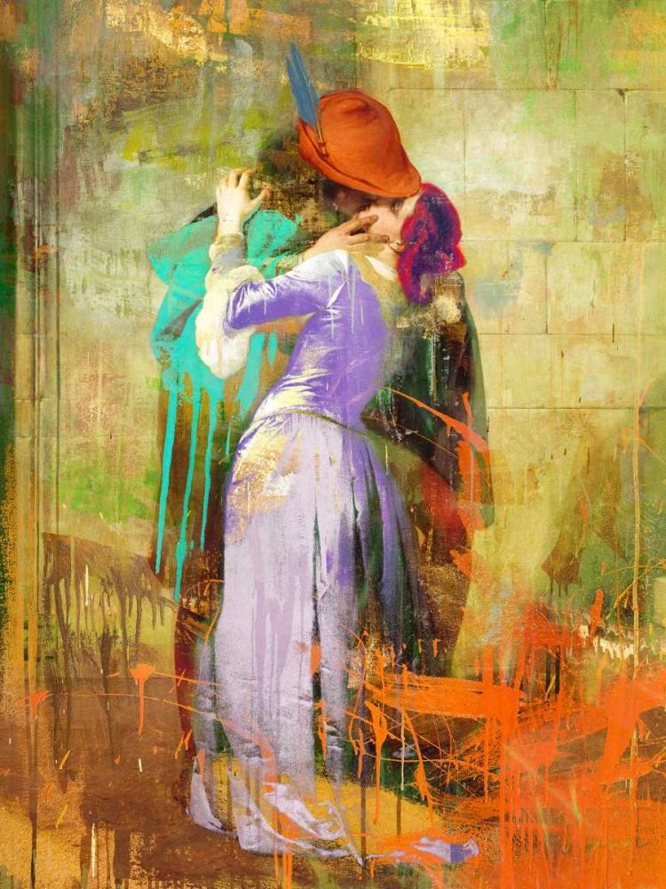 konfigurieren des Kunstdrucks in Wunschgröße Hayezs Kiss 2.0 von Chestier, Eric