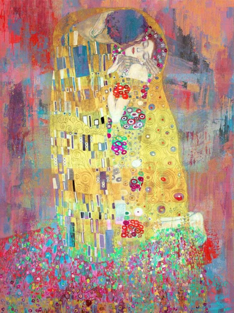 konfigurieren des Kunstdrucks in Wunschgröße Klimts Kiss 2.0 von Chestier, Eric