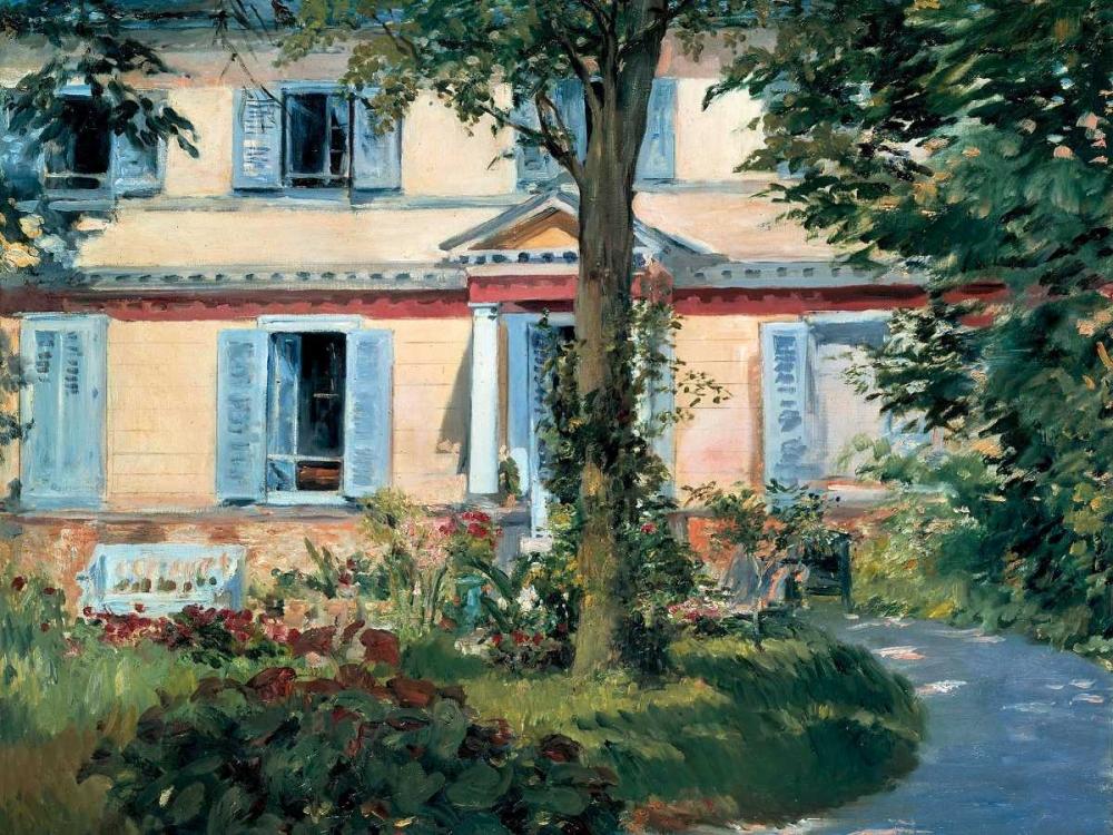konfigurieren des Kunstdrucks in Wunschgröße The House at Rueil von Manet, Edouard