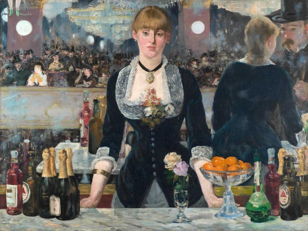 konfigurieren des Kunstdrucks in Wunschgröße Bar at the Folies-Bergère von Manet, Edouard