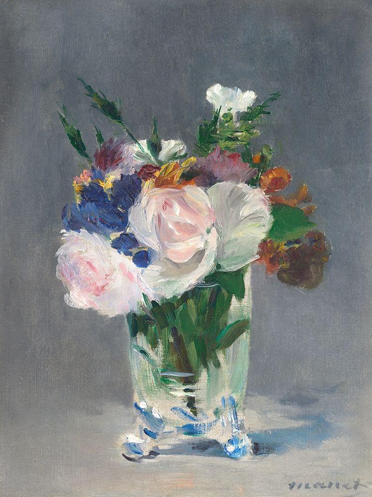 konfigurieren des Kunstdrucks in Wunschgröße Flowers in a Crystal Vase von Manet, Edouard