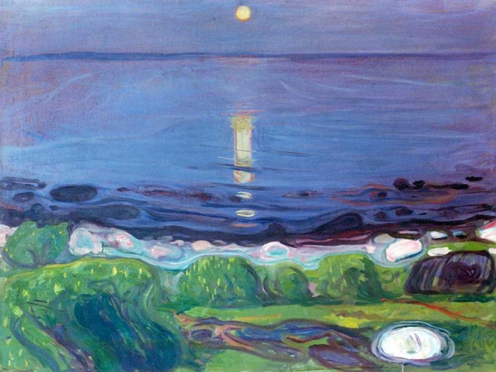 konfigurieren des Kunstdrucks in Wunschgröße Seascape von Munch, Edvard