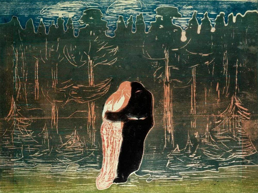 konfigurieren des Kunstdrucks in Wunschgröße Lovers von Munch, Edvard