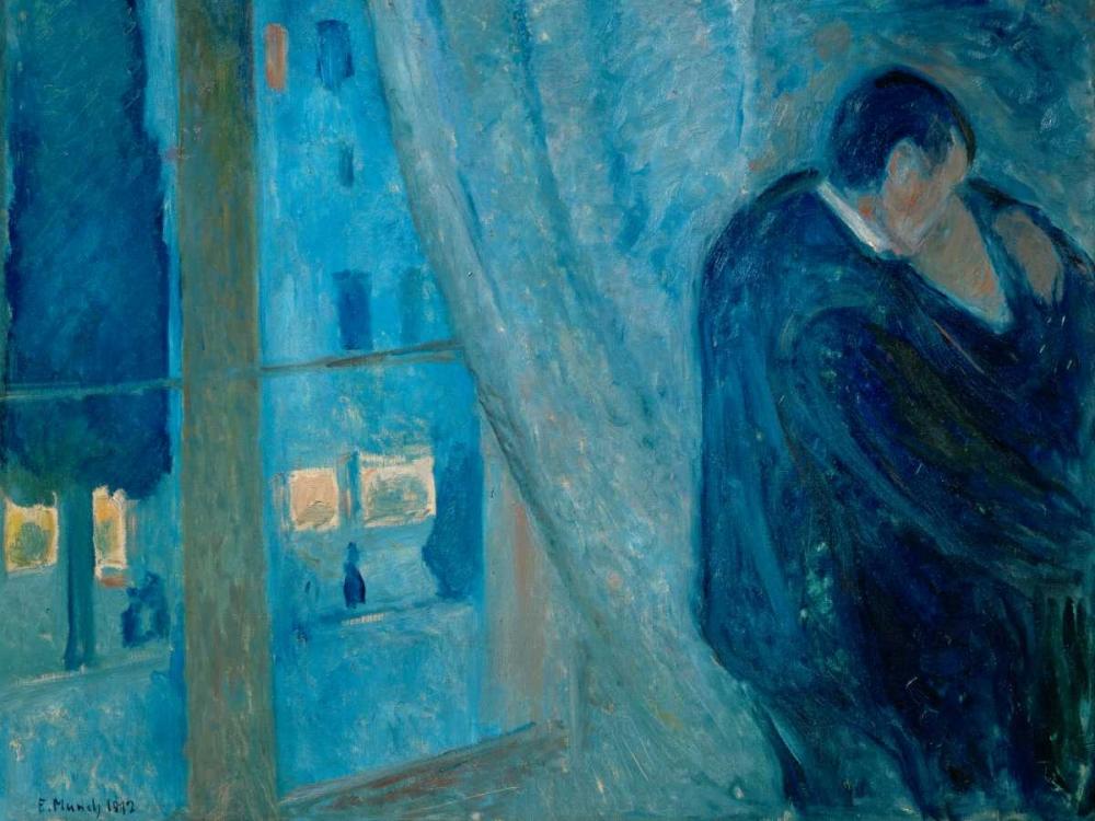 konfigurieren des Kunstdrucks in Wunschgröße The Kiss von Munch, Edvard