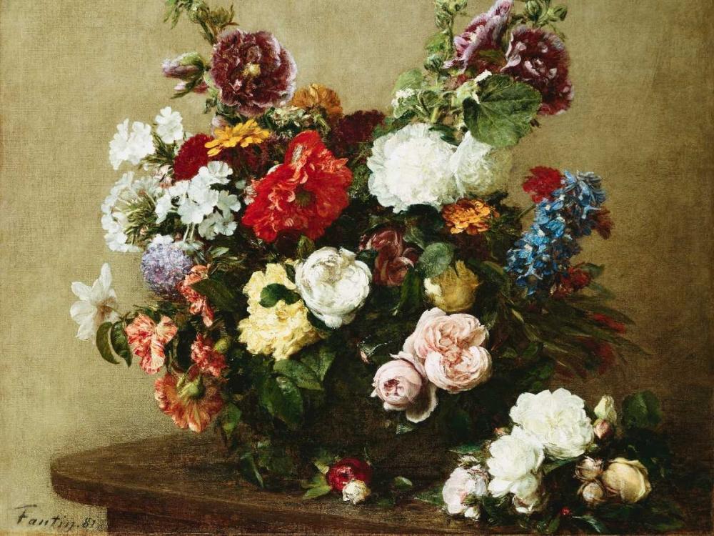konfigurieren des Kunstdrucks in Wunschgröße Bouquet of Various Flowers von Fantin-Latour, Henri