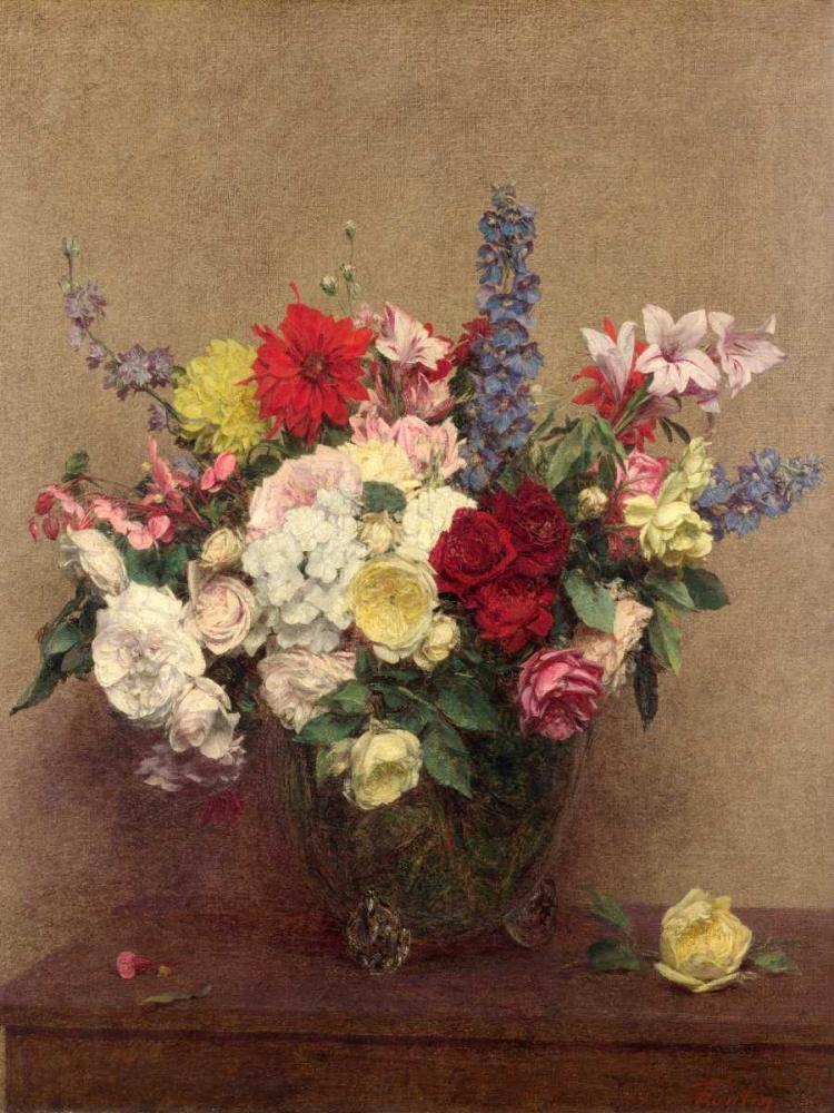 konfigurieren des Kunstdrucks in Wunschgröße The Rosy Wealth of June von Fantin-Latour, Henri