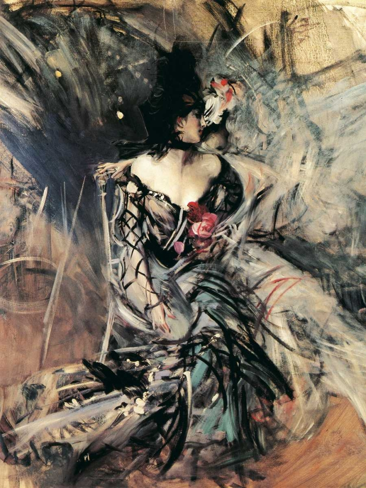 konfigurieren des Kunstdrucks in Wunschgröße Ballerine spagnole al Moulin Rouge von Boldini, Giovanni