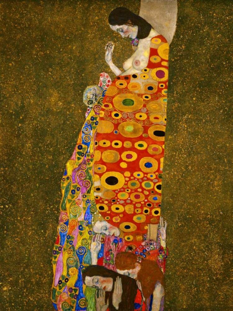 konfigurieren des Kunstdrucks in Wunschgröße Hope von Klimt, Gustav