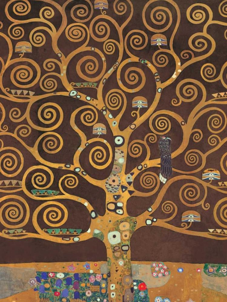 konfigurieren des Kunstdrucks in Wunschgröße Tree of Life-Brown Variation von Klimt, Gustav