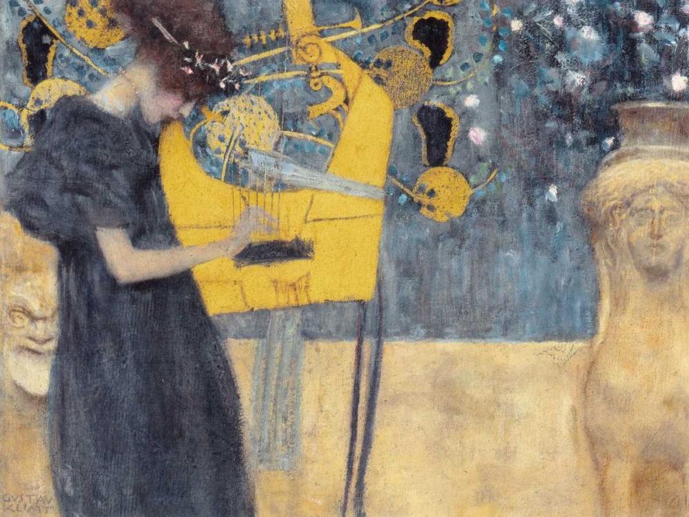 konfigurieren des Kunstdrucks in Wunschgröße Musik von Klimt, Gustav