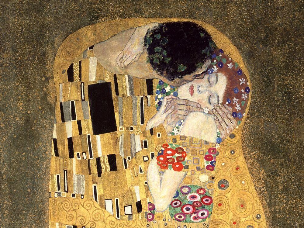 konfigurieren des Kunstdrucks in Wunschgröße The Kiss (detail) von Klimt, Gustav