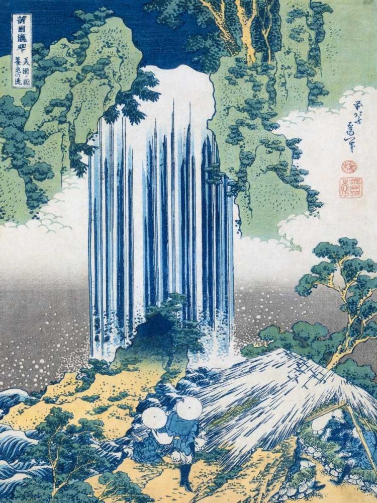 konfigurieren des Kunstdrucks in Wunschgröße The Yoro Falls ca. 1830-1831 von Hokusai