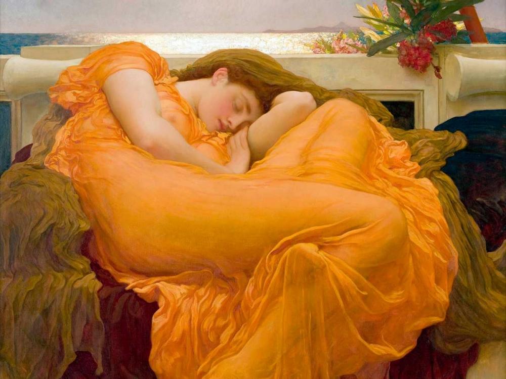 konfigurieren des Kunstdrucks in Wunschgröße Flaming June von Leighton, Frederic