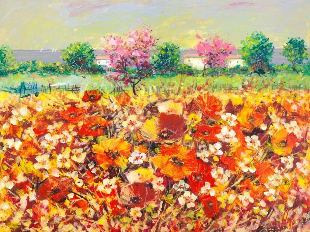 konfigurieren des Kunstdrucks in Wunschgröße Colori di primavera von Florio, Luigi