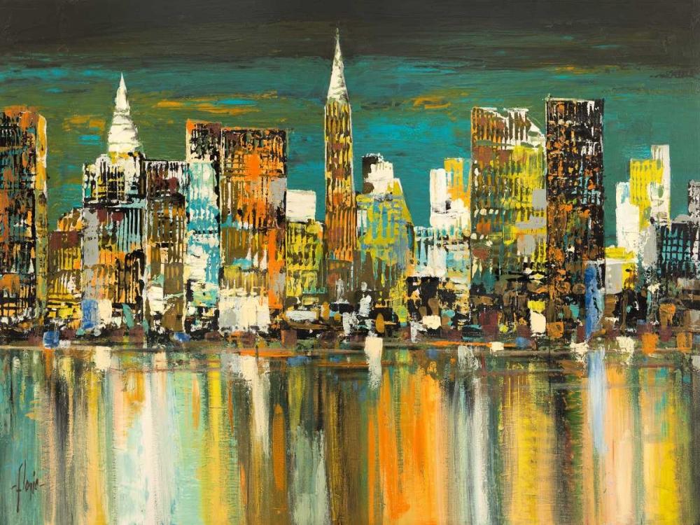 konfigurieren des Kunstdrucks in Wunschgröße Le mille luci di New York von Florio, Luigi