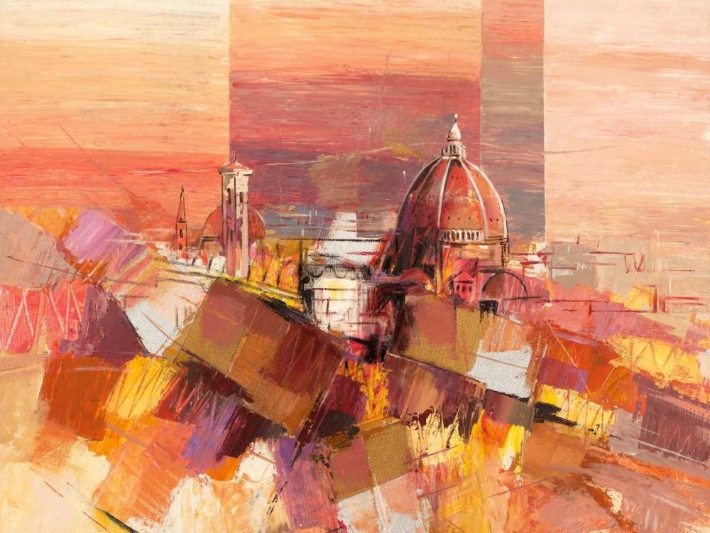 konfigurieren des Kunstdrucks in Wunschgröße Firenze astratta von Florio, Luigi