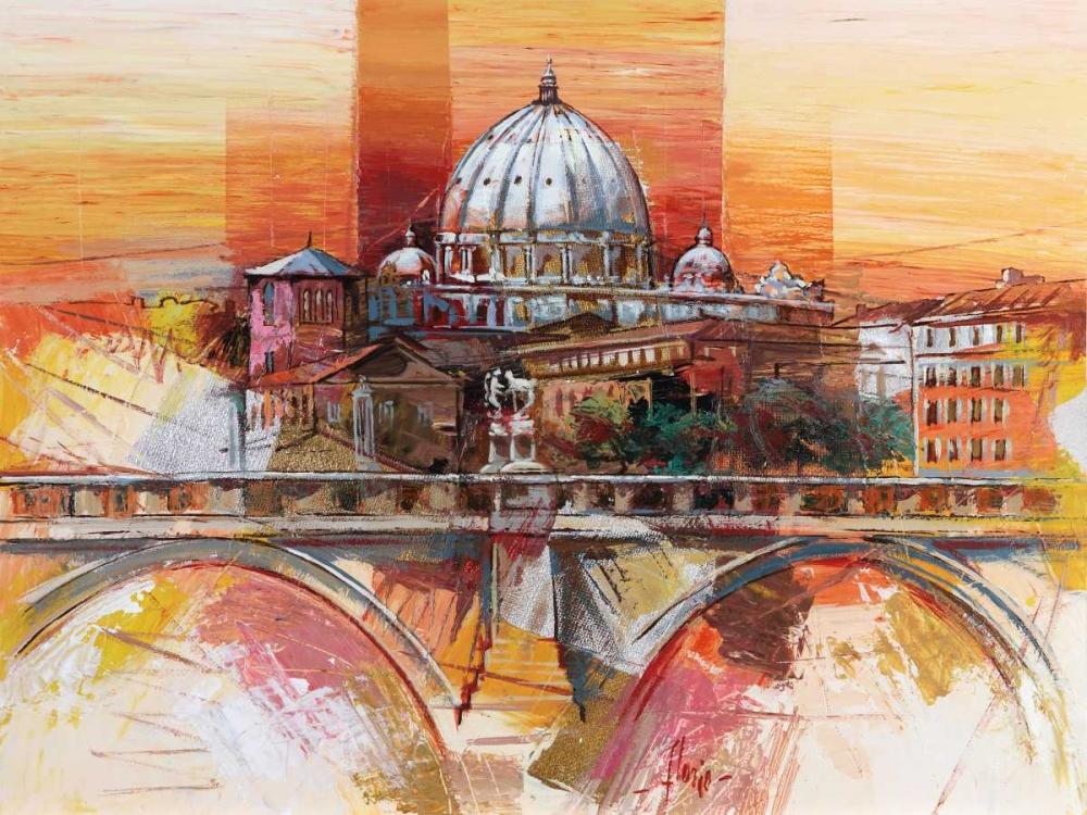 konfigurieren des Kunstdrucks in Wunschgröße Roma eterna von Florio, Luigi