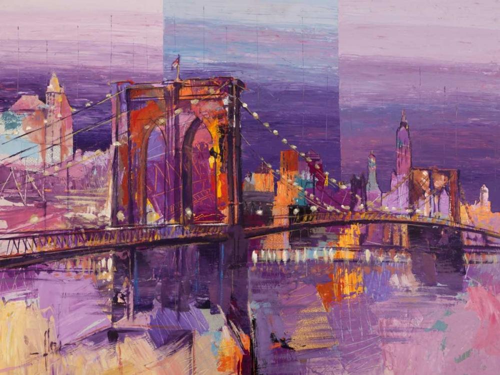 konfigurieren des Kunstdrucks in Wunschgröße Brooklyn Bridge von Florio, Luigi