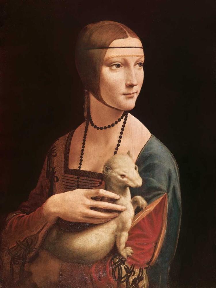 konfigurieren des Kunstdrucks in Wunschgröße La dama con l ermellino von Da Vinci, Leonardo
