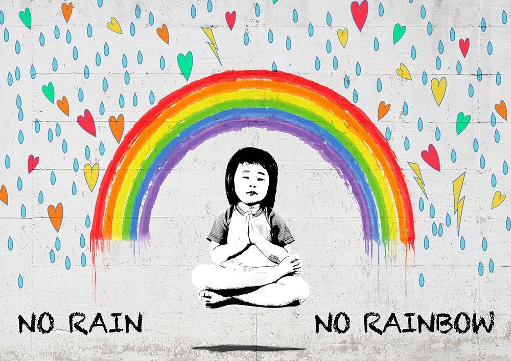 konfigurieren des Kunstdrucks in Wunschgröße No Rain No Rainbow von Masterfunk Collective