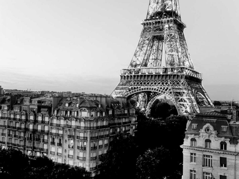 konfigurieren des Kunstdrucks in Wunschgröße Eiffel tower and buildings, Paris von Setboun, Michel