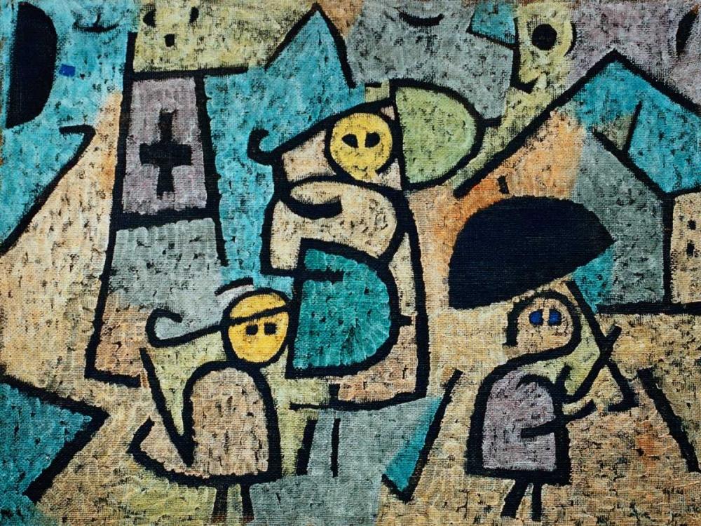 konfigurieren des Kunstdrucks in Wunschgröße Protected Children von Klee, Paul