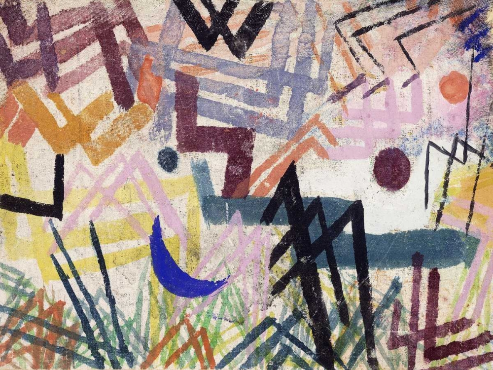 The Power of Play in a Lech Landscape von Klee, Paul <br> max. 155 x 117cm <br> Preis: ab 10€