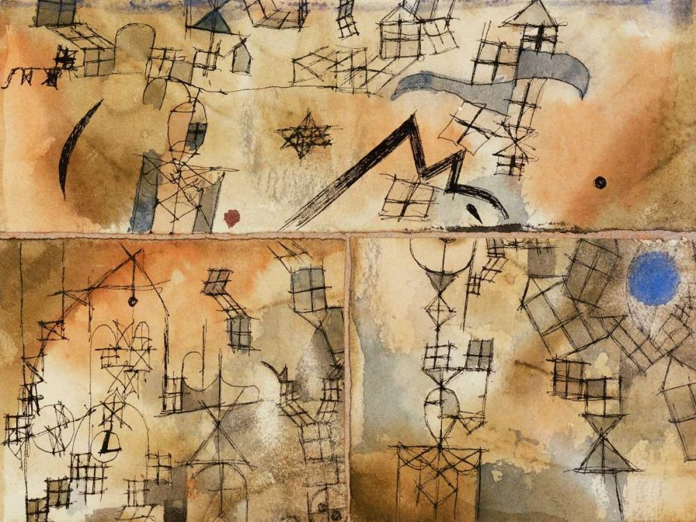 konfigurieren des Kunstdrucks in Wunschgröße Three-Part Composition von Klee, Paul