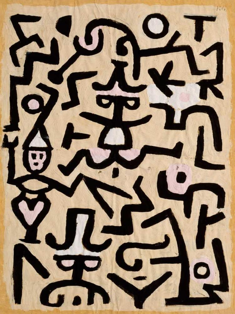 konfigurieren des Kunstdrucks in Wunschgröße Comedians Handbill von Klee, Paul