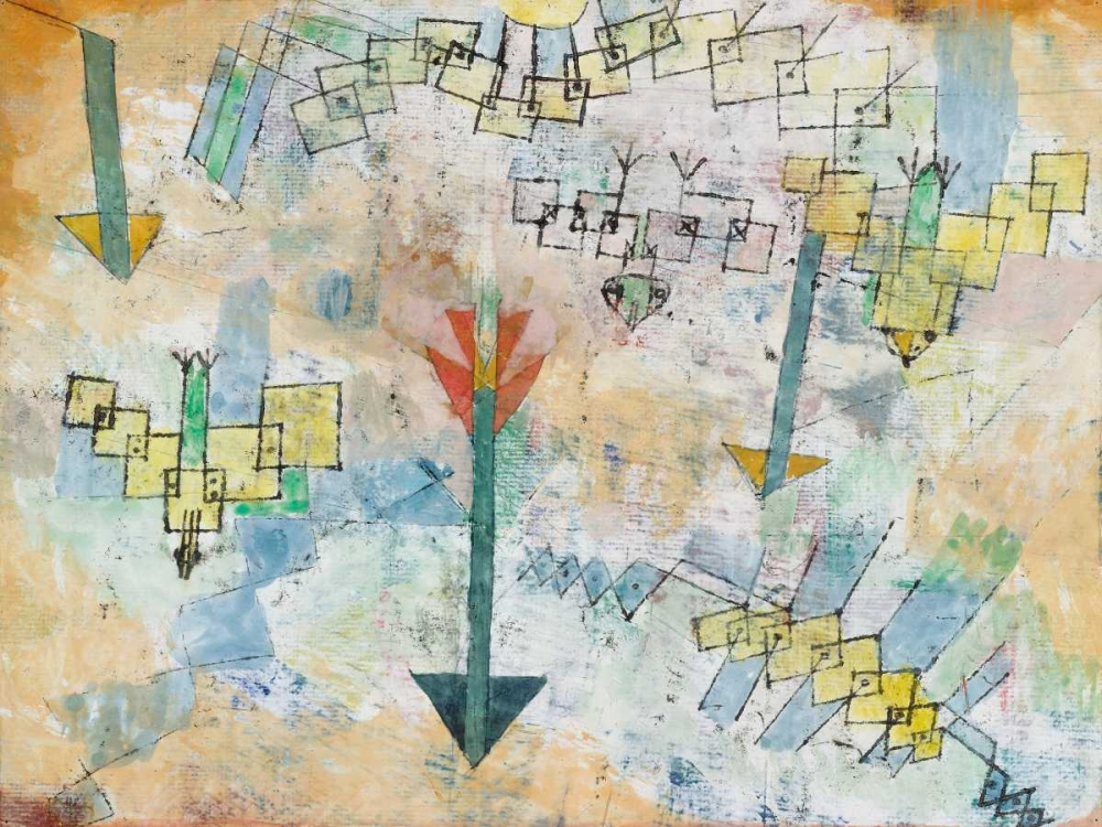 Birds Swooping Down and Arrows von Klee, Paul <br> max. 175 x 132cm <br> Preis: ab 10€