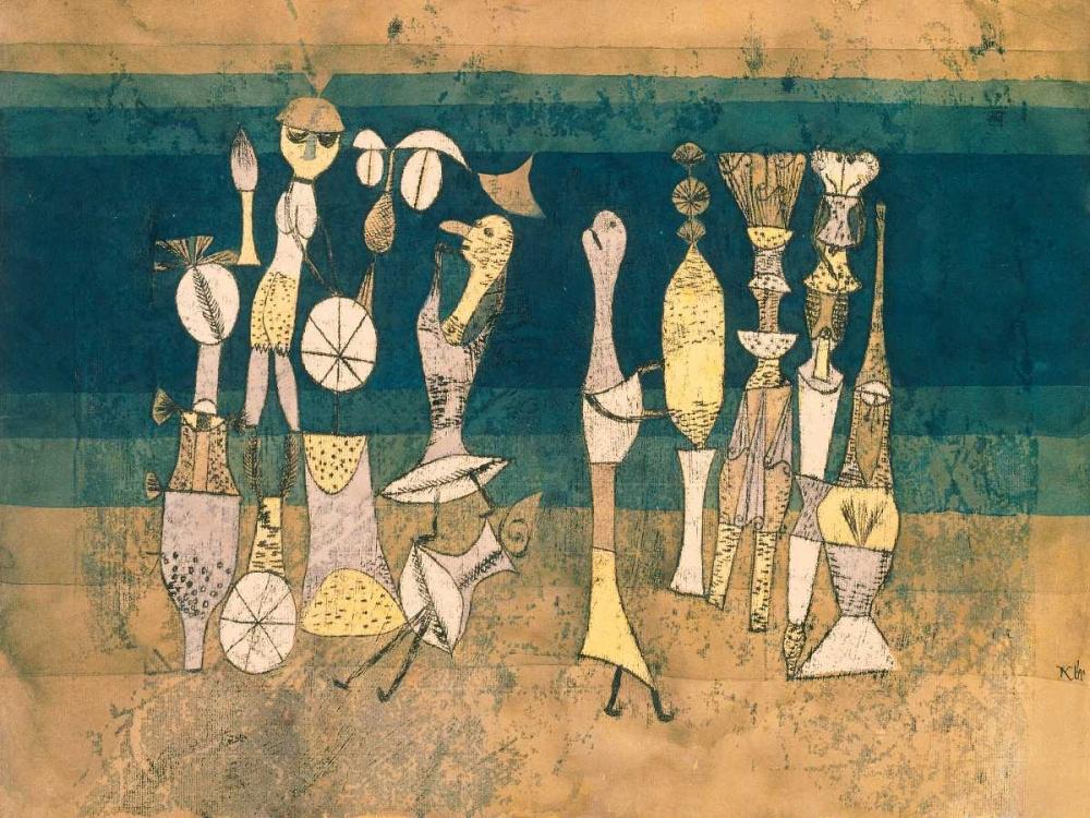 konfigurieren des Kunstdrucks in Wunschgröße Comedy von Klee, Paul