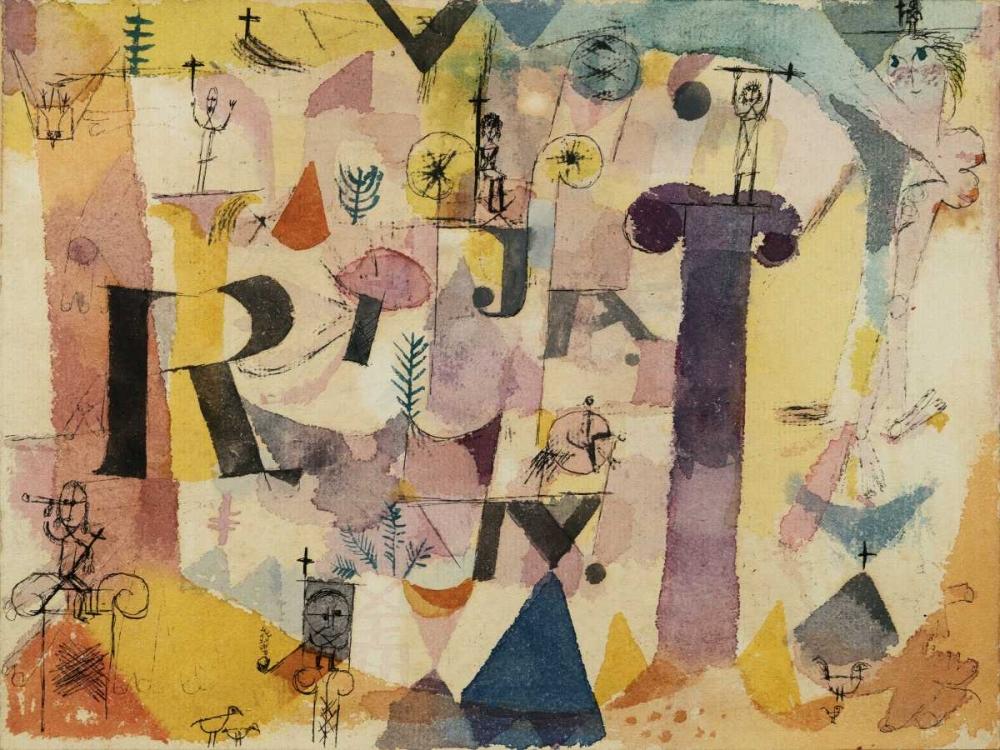 konfigurieren des Kunstdrucks in Wunschgröße Stylish Ruins (detail) von Klee, Paul