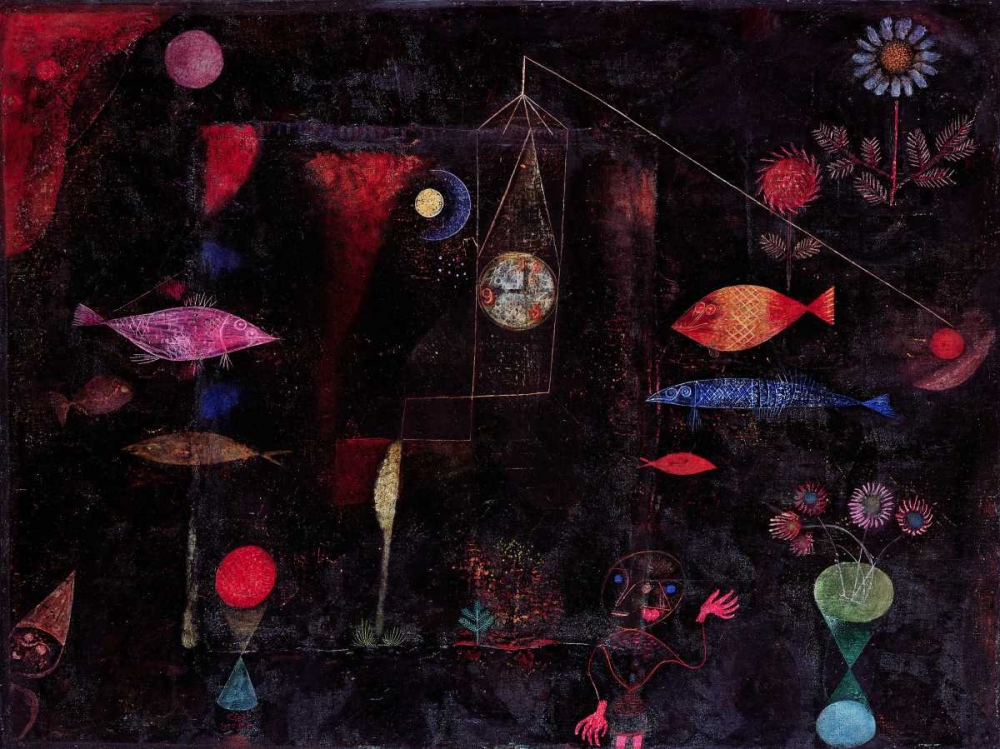 konfigurieren des Kunstdrucks in Wunschgröße Fish Magic von Klee, Paul