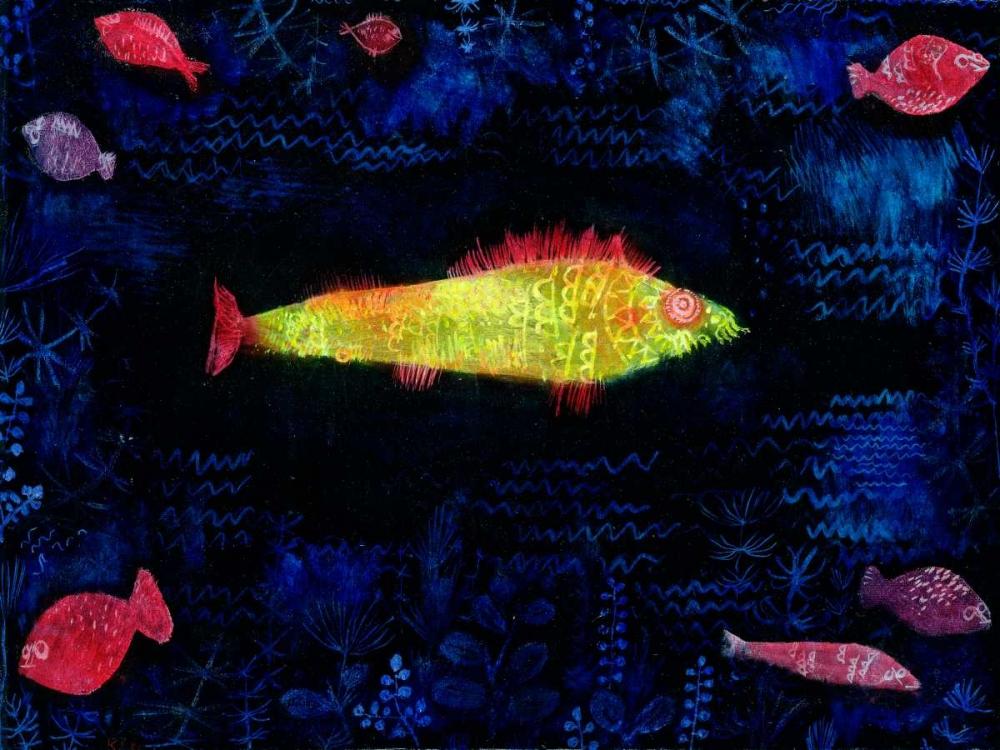 konfigurieren des Kunstdrucks in Wunschgröße The Goldfish von Klee, Paul