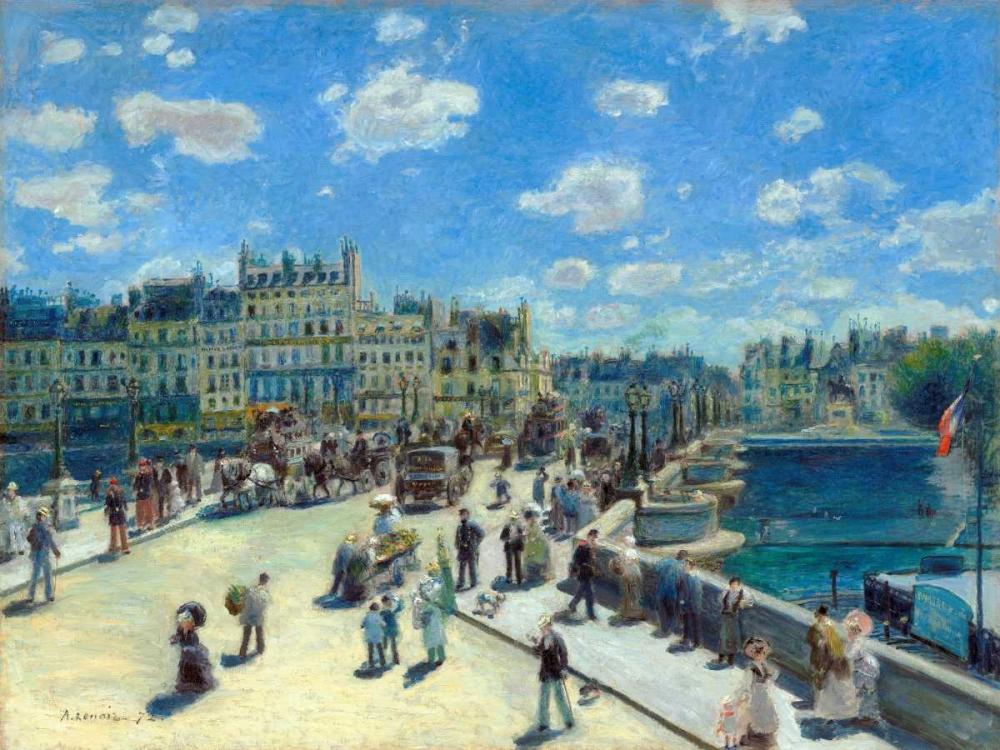 konfigurieren des Kunstdrucks in Wunschgröße Pont Neuf Paris von Renoir, Pierre-Auguste