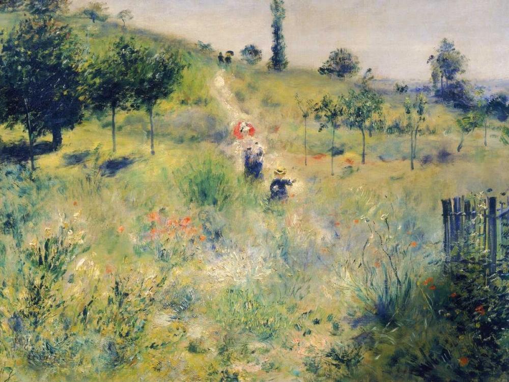 konfigurieren des Kunstdrucks in Wunschgröße The path through the long grass von Renoir, Pierre-Auguste